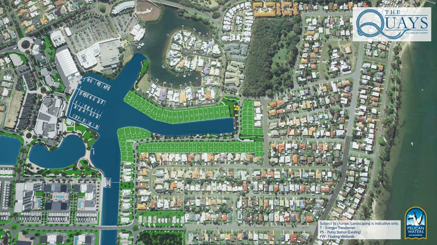 land for sale - the quays by pelican waters